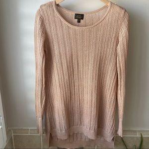 Original Frenchi Metallic Pointelle Sweater